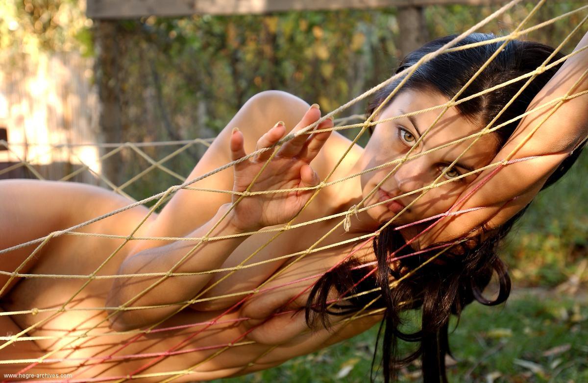 Симпатичная Татьяна в гамаке