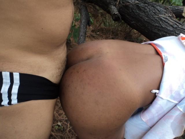 Секс с латиноамериканкой в лесу